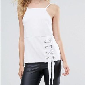 ASOS Tall Cami with Square Neck and Eyelet Detail